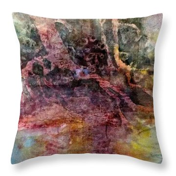 Throw Pillow featuring the painting On The Peninsula by Carolyn Rosenberger