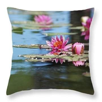 On The Pond Throw Pillow
