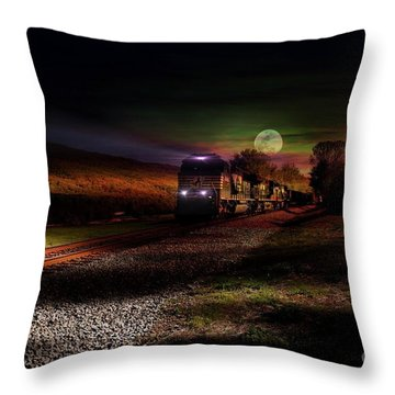 On The Prowl Throw Pillow by Rick Lipscomb