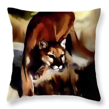 On The Prowl Throw Pillow by Vic Weiford