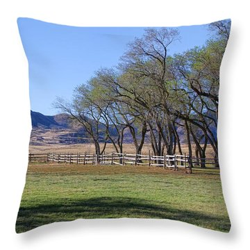 Throw Pillow featuring the photograph On The Ranch by Ely Arsha