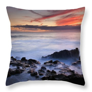 On The Red Rocks Throw Pillow
