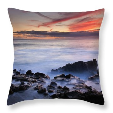 On The Red Rocks Throw Pillow by Mike  Dawson