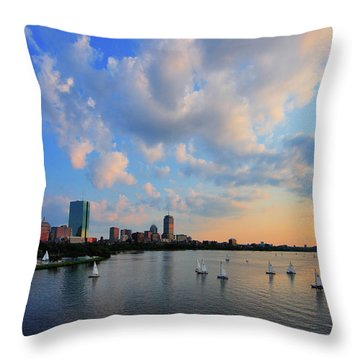 On The River Throw Pillow by Rick Berk