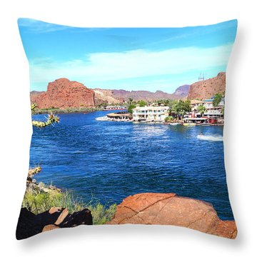 On The Rivers Edge Throw Pillow