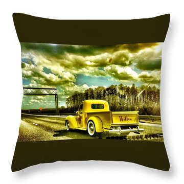 On The Road Again Throw Pillow by Carlos Avila