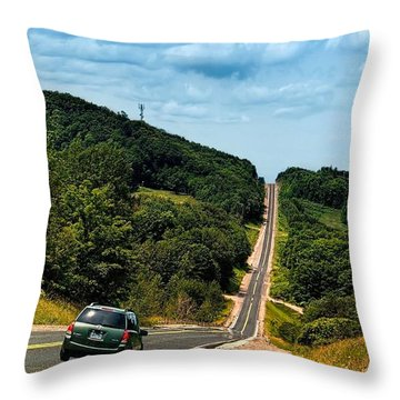 On The Road Again Throw Pillow by Jeff S PhotoArt