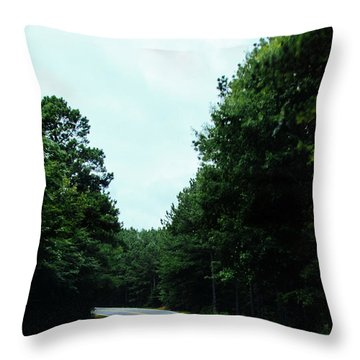 Throw Pillow featuring the photograph On The Road by Andrea Anderegg