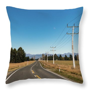 Throw Pillow featuring the photograph On The Road by Gary Eason