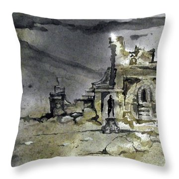 On The Road II Throw Pillow