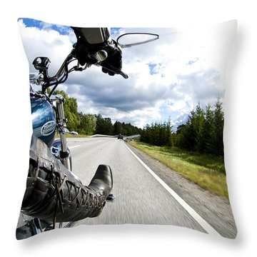 On The Road Throw Pillow by Micah May