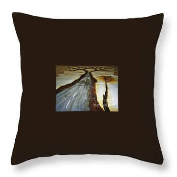 On The Road Of The Tree Of Life Throw Pillow
