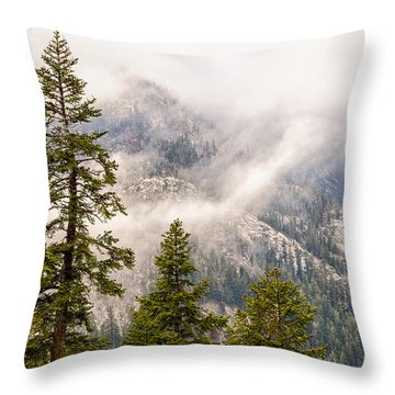 Throw Pillow featuring the photograph On The Road To Devil's Postpile by Janis Knight