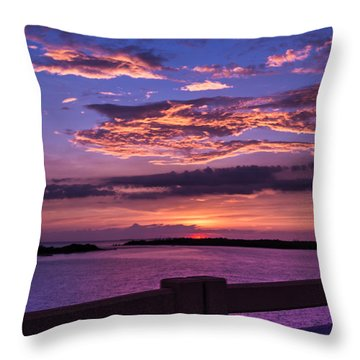 On The Road To Sanibel Throw Pillow