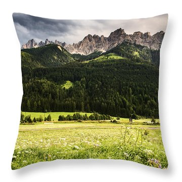 Throw Pillow featuring the photograph On The Road by Yuri Santin