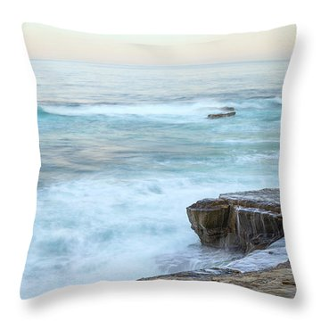 On The Rocks Throw Pillow by Joseph S Giacalone