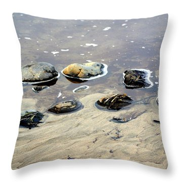 On The Rocks Throw Pillow by Marty Koch