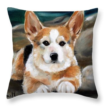 On The Rocks Throw Pillow by Mary Sparrow