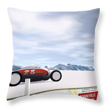 On The Salt Throw Pillow by John Pangia