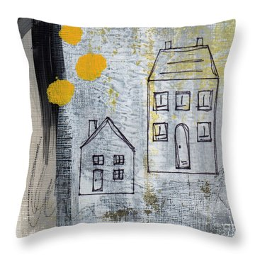 On The Same Street Throw Pillow