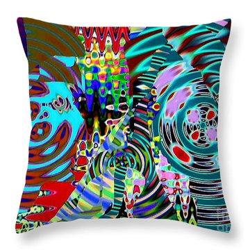 On The Same Wavelength Throw Pillow by Navo Art