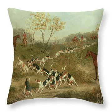 On The Scent Throw Pillow by James Russell Ryott