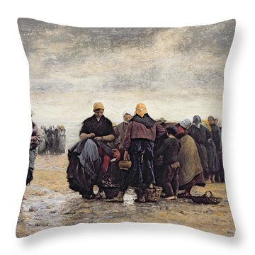 On The Shore Throw Pillow by Jacques Eugene Feyen
