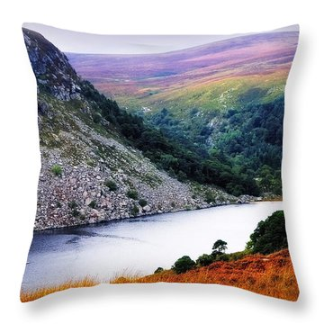 On The Shore Of Lough Tay. Wicklow. Ireland Throw Pillow