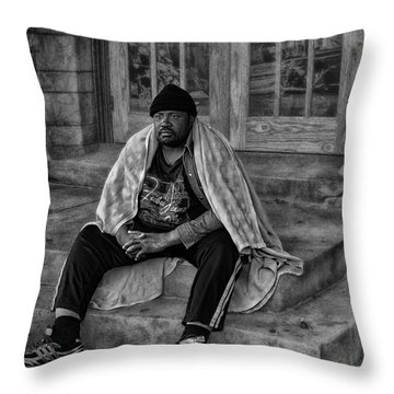 On The Steps Of Gods' House Throw Pillow by Kelly Rader