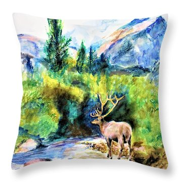 On The Stream Throw Pillow