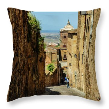 On The Streets Of Caceres Throw Pillow