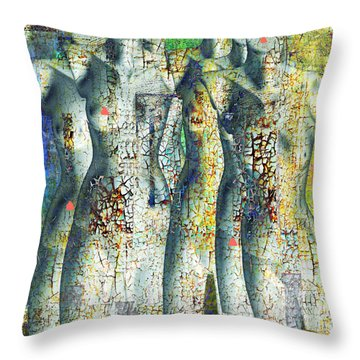 On The Sunny Side Of The Street Throw Pillow