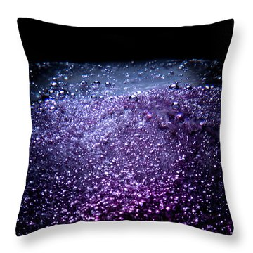 Throw Pillow featuring the photograph On The Surface by Eric Christopher Jackson