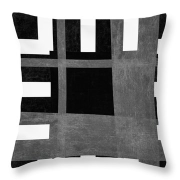 Throw Pillow featuring the photograph On The Tarmac Designer Series 3a12bw by Carol Leigh