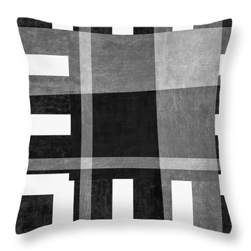 Throw Pillow featuring the photograph On The Tarmac Designer Series 3a18bw by Carol Leigh