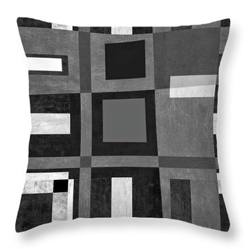 Throw Pillow featuring the photograph On The Tarmac Designer Series 3a20abw by Carol Leigh