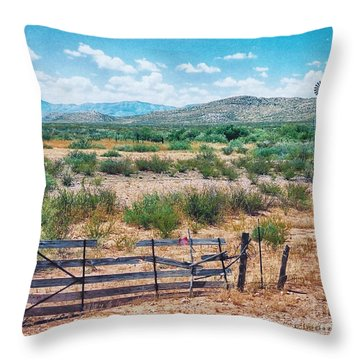 Throw Pillow featuring the photograph On The Texas Plans by Charles McKelroy