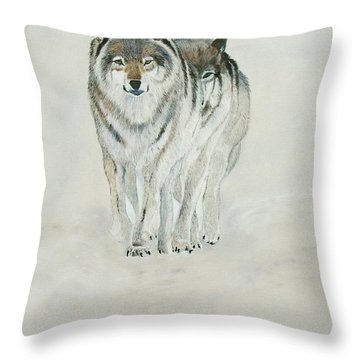 On The Trail. Throw Pillow