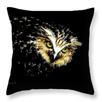 On The Watch Throw Pillow by Asok Mukhopadhyay