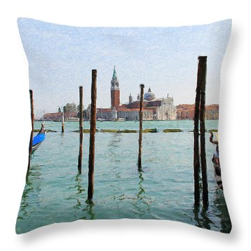 Throw Pillow featuring the digital art On The Waterfront by Julian Perry