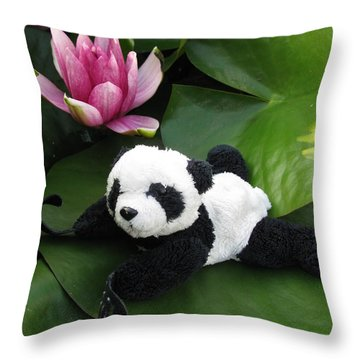 Throw Pillow featuring the photograph On The Waterlily by Ausra Huntington nee Paulauskaite