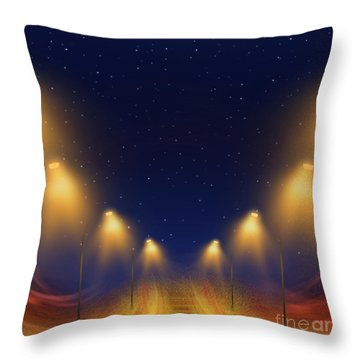 On The Way Home - Digital Painting By Giada Rossi Throw Pillow