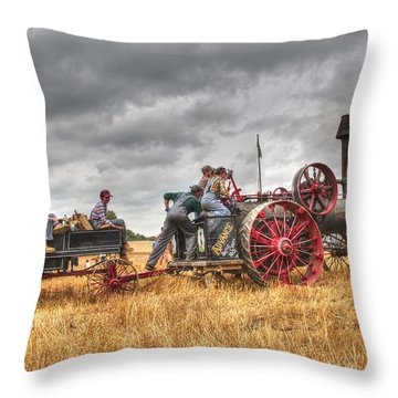 On The Way Throw Pillow by Shelly Gunderson