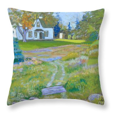 on the Way to Grandma's House Throw Pillow