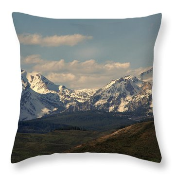 On The Way To Jacksonhole Wy Throw Pillow by Susanne Van Hulst