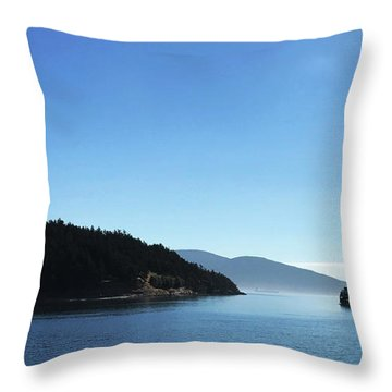 Throw Pillow featuring the photograph On The Way To Orcas by Lorraine Devon Wilke