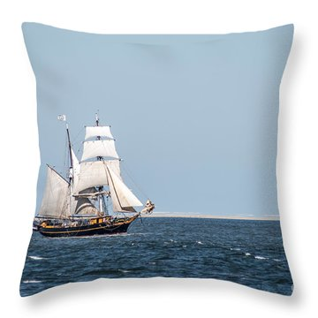 on the way to Texel Throw Pillow