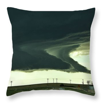 On The Way To The Akron Co Beast Throw Pillow