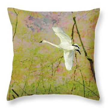 Throw Pillow featuring the photograph On The Wing by Belinda Greb