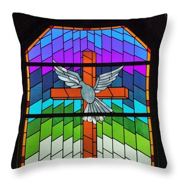 On The Wings Throw Pillow by John Glass